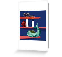 Whale on a shelf Greeting Card