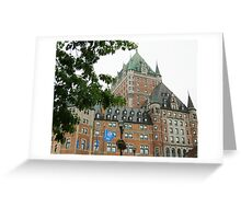 Quebec City's Chateau Frontenac Greeting Card
