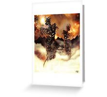 Mechanised Desert wanderers [Digital Figure Illustration] Version 3 Greeting Card
