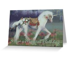 Unicorn Birthday Card Magical Birthday Greeting Card
