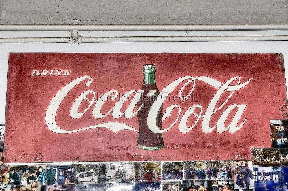 Coke Sign at Tom and Mabel's by Kim McClain Gregal