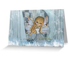 Birthay Card With Cute Pastel Fairy Greeting Card