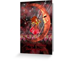 Fairy On Moon Birthday Card Greeting Card