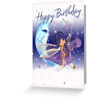 Birthday Card With Fairy Riding A Dragon Greeting Card