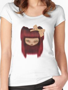 Little Happy Doll Women's Fitted Scoop T-Shirt
