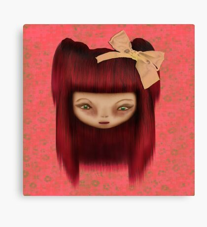 Little Happy Doll Canvas Print