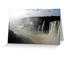 Iguazu Falls Seen from Brazil Greeting Card