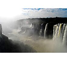 Iguazu Falls Seen from Brazil Photographic Print
