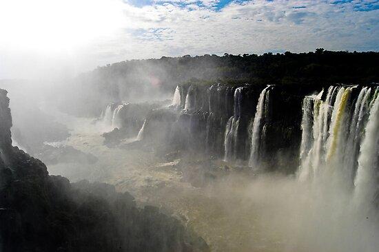 Iguazu Falls Seen from Brazil by pdgoodman
