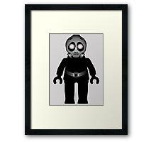 Zombie Apocalypse Hazmat Gas Mask Minifig Framed Print