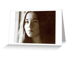 Girl in Light Greeting Card