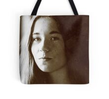Girl in Light Tote Bag