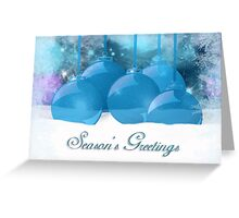 Christmas Ornament Card With Snow Good For Business Christmas Card Greeting Card