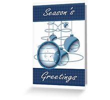Decorative Christmas Ornament Card In Blue Ideal For Business Greeting Card