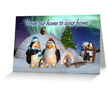 Penguine Family Holiday Card Christmas Card Greeting Card