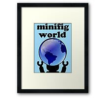 MINIFIG WORLD Framed Print