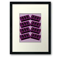 8 Bricks Framed Print