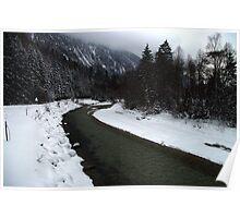 River Isar at Leutasch Poster