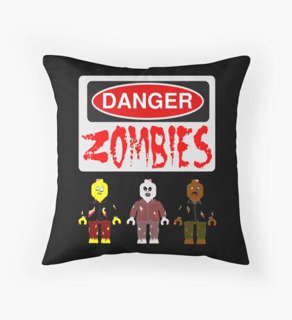 DANGER ZOMBIES Throw Pillow