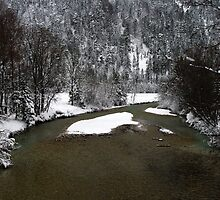 River Isar at Leutasch II by Daidalos