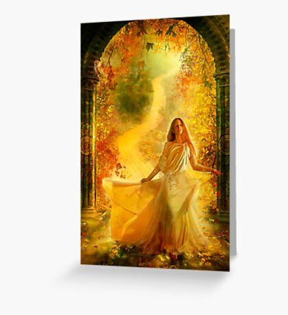 Into Dreams Greeting Card