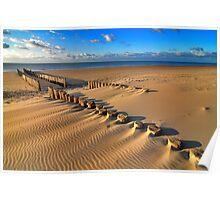 Golden RedBubble Beach..... Poster