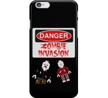 DANGER ZOMBIE INVASION iPhone Case/Skin