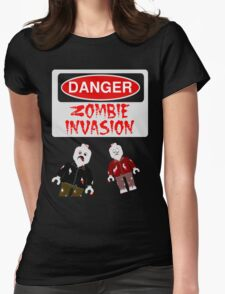 DANGER ZOMBIE INVASION Womens Fitted T-Shirt