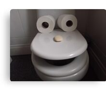 Toilet humour Canvas Print