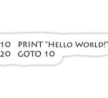 Hello World (Black) Sticker