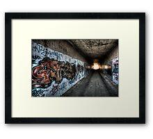 Graffiti in HDR Framed Print