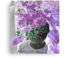 Purple Shamrock Canvas Print