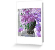 Purple Shamrock Greeting Card