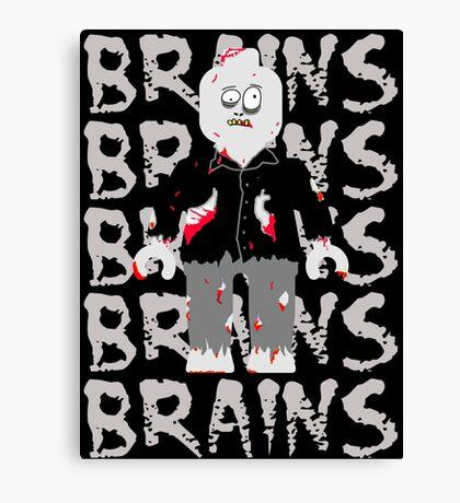 BRAINS BRAINS BRAINS BRAINS BRAINS Canvas Print