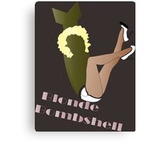 Blonde Bombshell Pinup Canvas Print