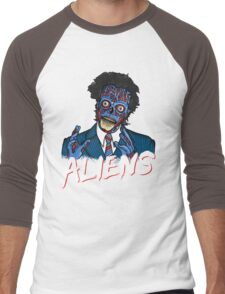 BECAUSE ALIENS Men's Baseball ¾ T-Shirt