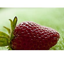 Backlit Strawberry Photographic Print