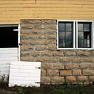 a yellow barn by Lynne Prestebak