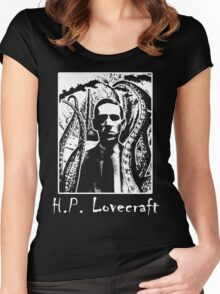 H.P. Lovecraft T-Shirt. Women's Fitted Scoop T-Shirt