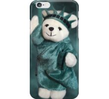 I STAND FOR U...LIBERTY BEAR...PICTURE ..PILLOW..TOTE BAG..ECT.. iPhone Case/Skin