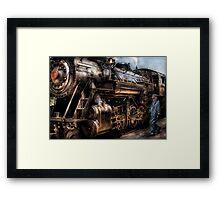 Train - Now boarding Framed Print