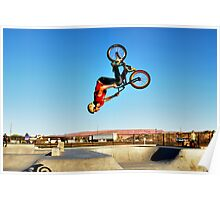 Back Flip Biker Poster