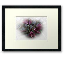 Hazy Lilies Framed Print