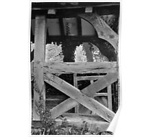 Tired old oak, Bridge Sollars Church, herefordshire Poster