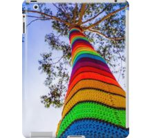Yarn Bombed Tree, Swanston Street, Melbourne iPad Case/Skin