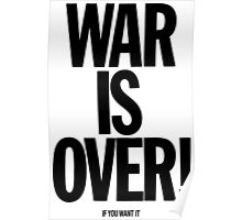 War is Over, if you want it - John Lennon Poster