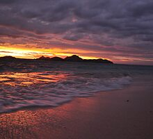 sunset at Amunuca Resort Fiji by Luke Donegan