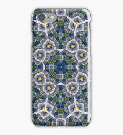 Abstract Pattern yellow blue iPhone Case/Skin