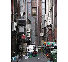 Melbourne back alley smoko Photographic Print