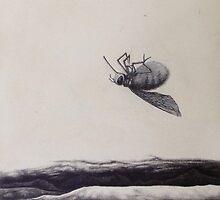 died of thirst. graphite, oil on wood.  21.5''x 10.5''. adam sturch by adam sturch